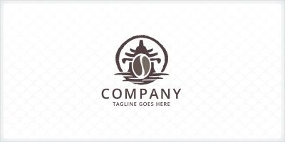 Coffee Bean and Temple Logo