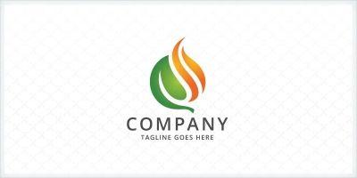 Leaf and Fire Logo