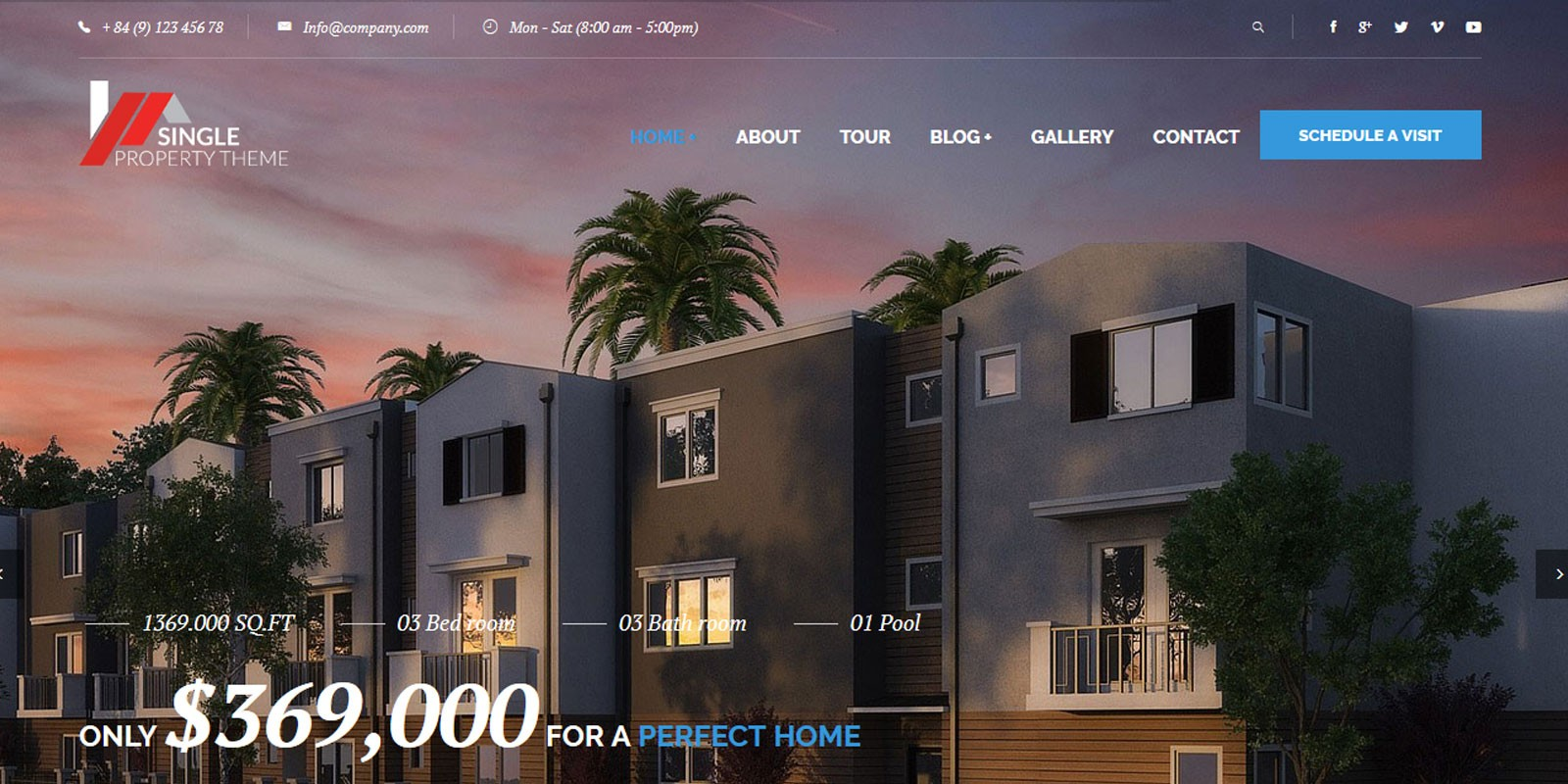 Single Property Real Estate HTML Template