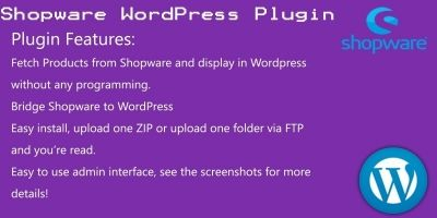 Shopware WordPress plugin