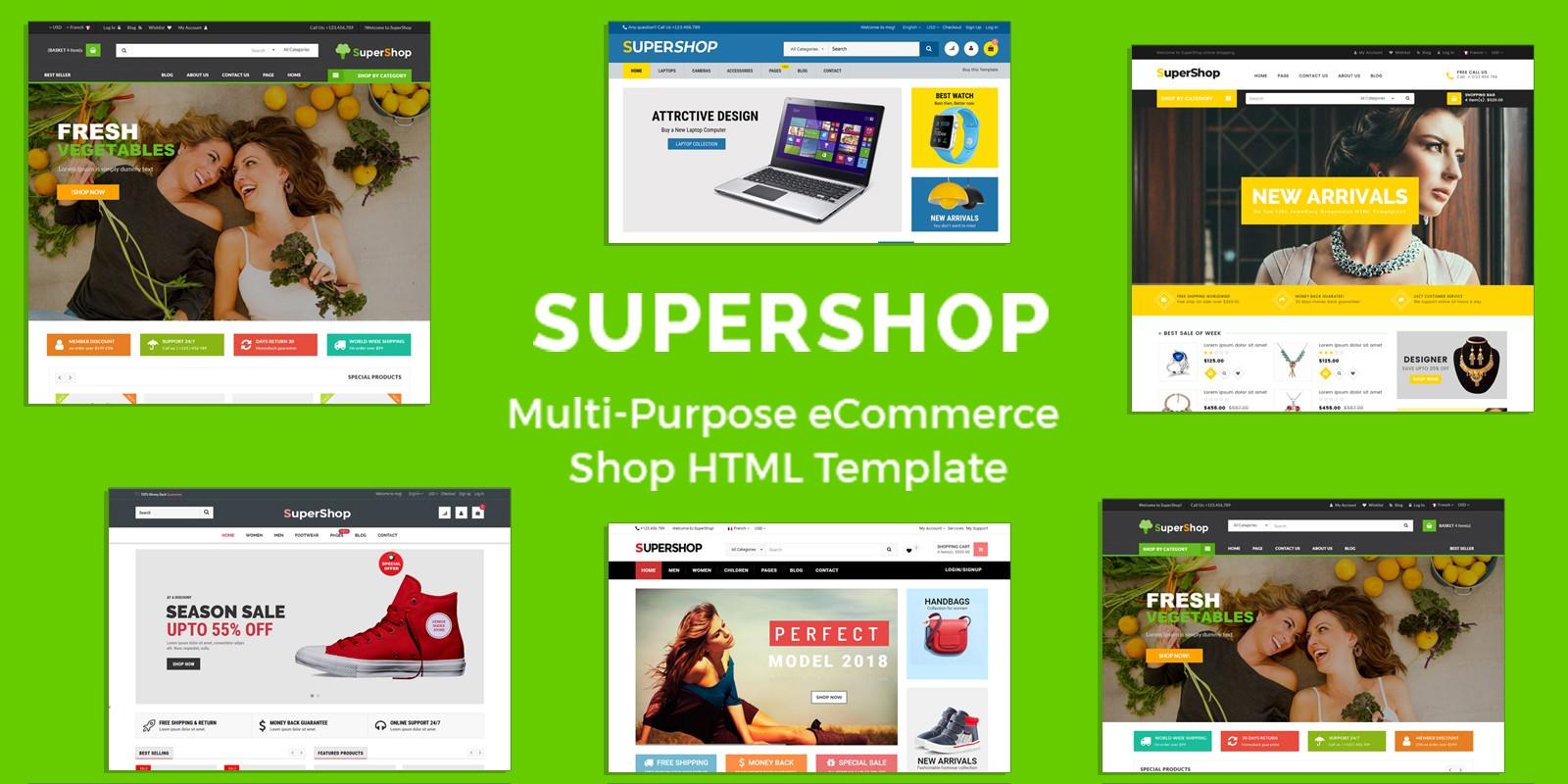 SuperShop - Multipurpose E-Commerce HTML Template