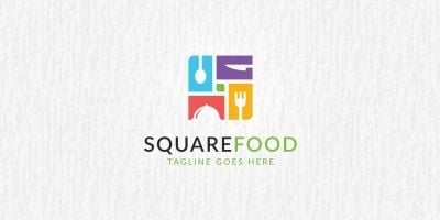 Square Food Logo Template