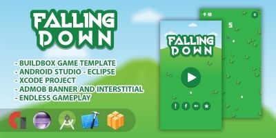 Falling Down - Buildbox Game Template