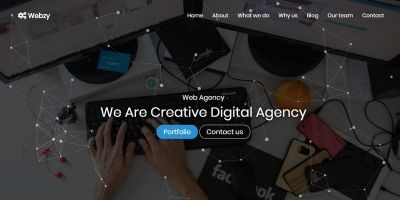 Webzy - Creative One Page Template