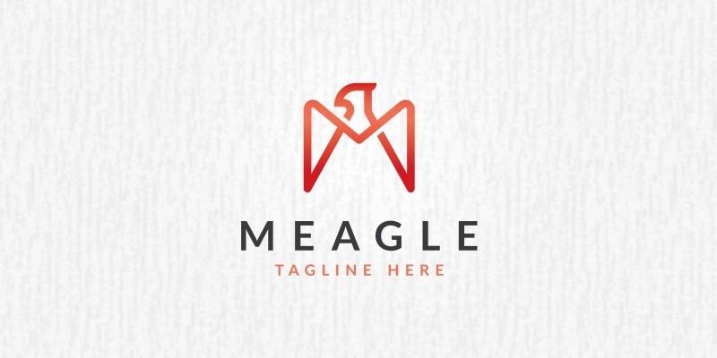 M Letter Eagle Logo