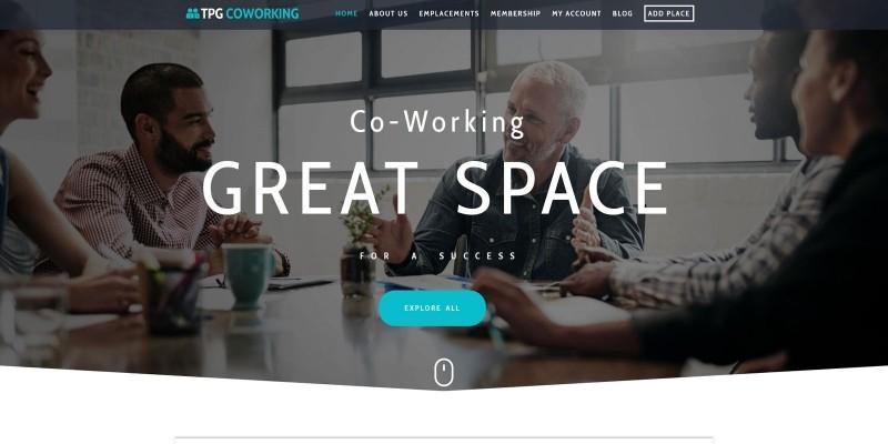 TPG CoWorking - Coworking WordPress theme