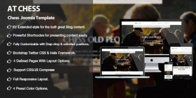 AT Chess  – Joomla Chess Template