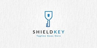 Shield Key Logo