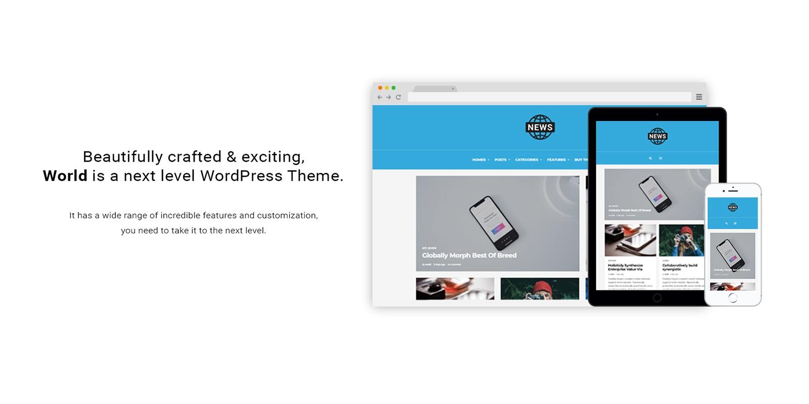 The World - Magazine News WordPress Theme