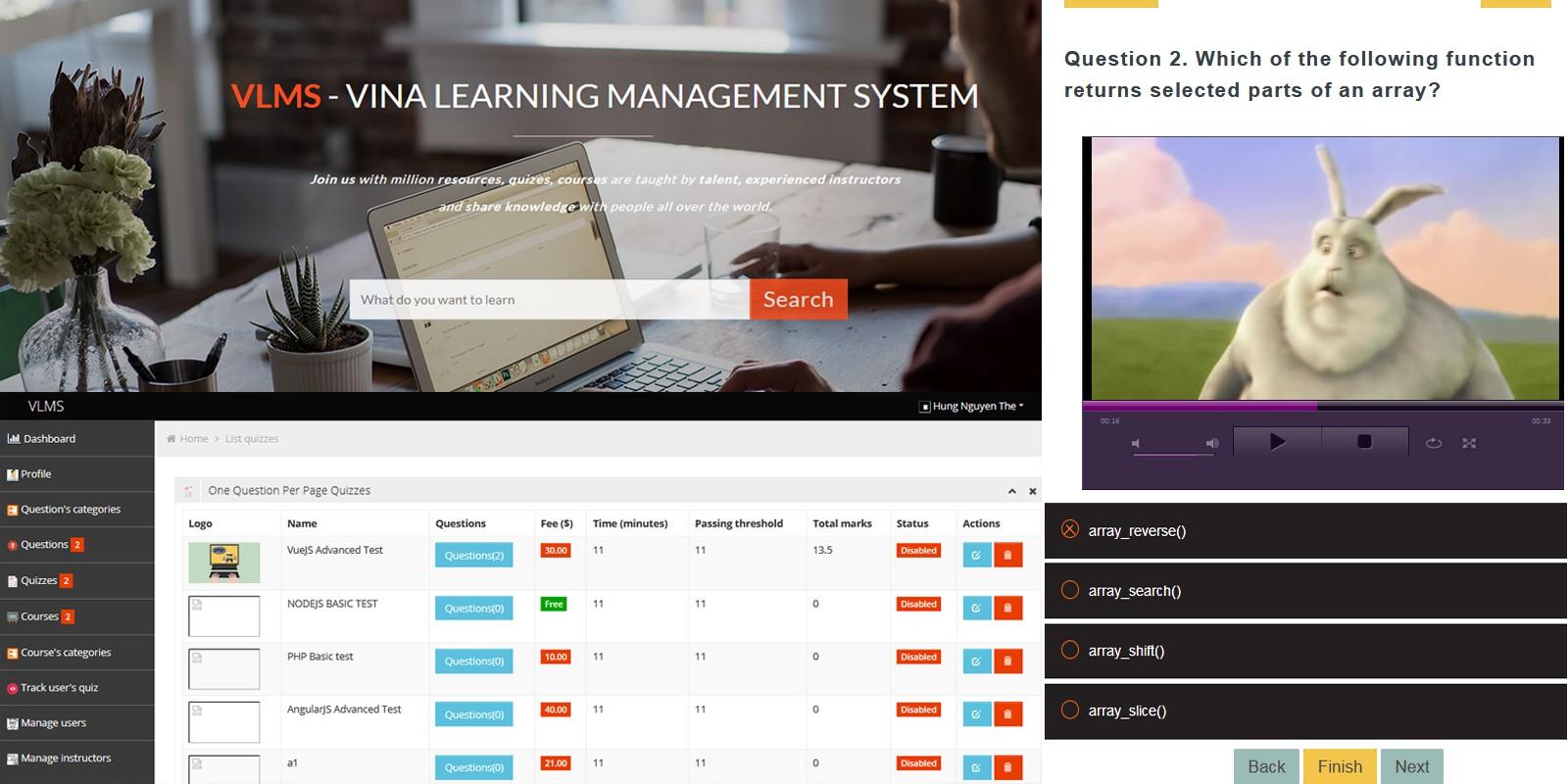 Vina Elearning Management System
