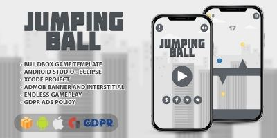 Jumping Ball - Buildbox Game Template