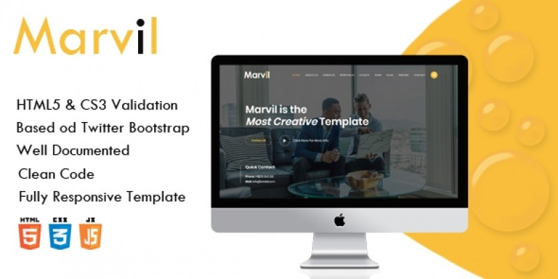 Marvil - One Page Multipurpose Template