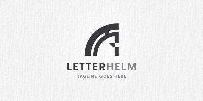 Letter Helmet Logo