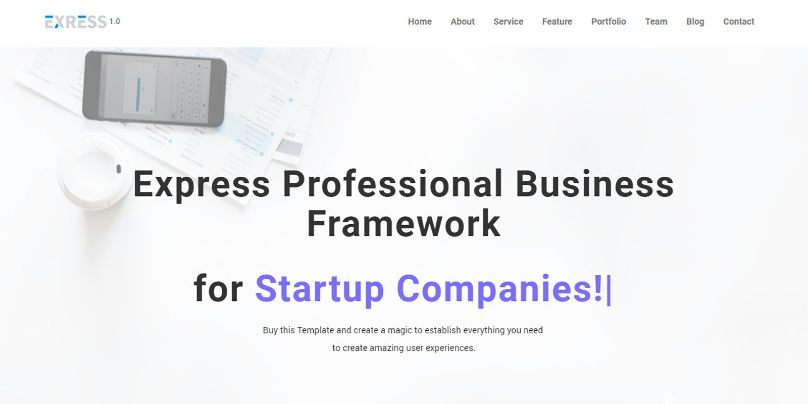 Express Agency HTML Template