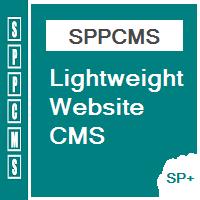 SPPcms - Lightweight Website CMS