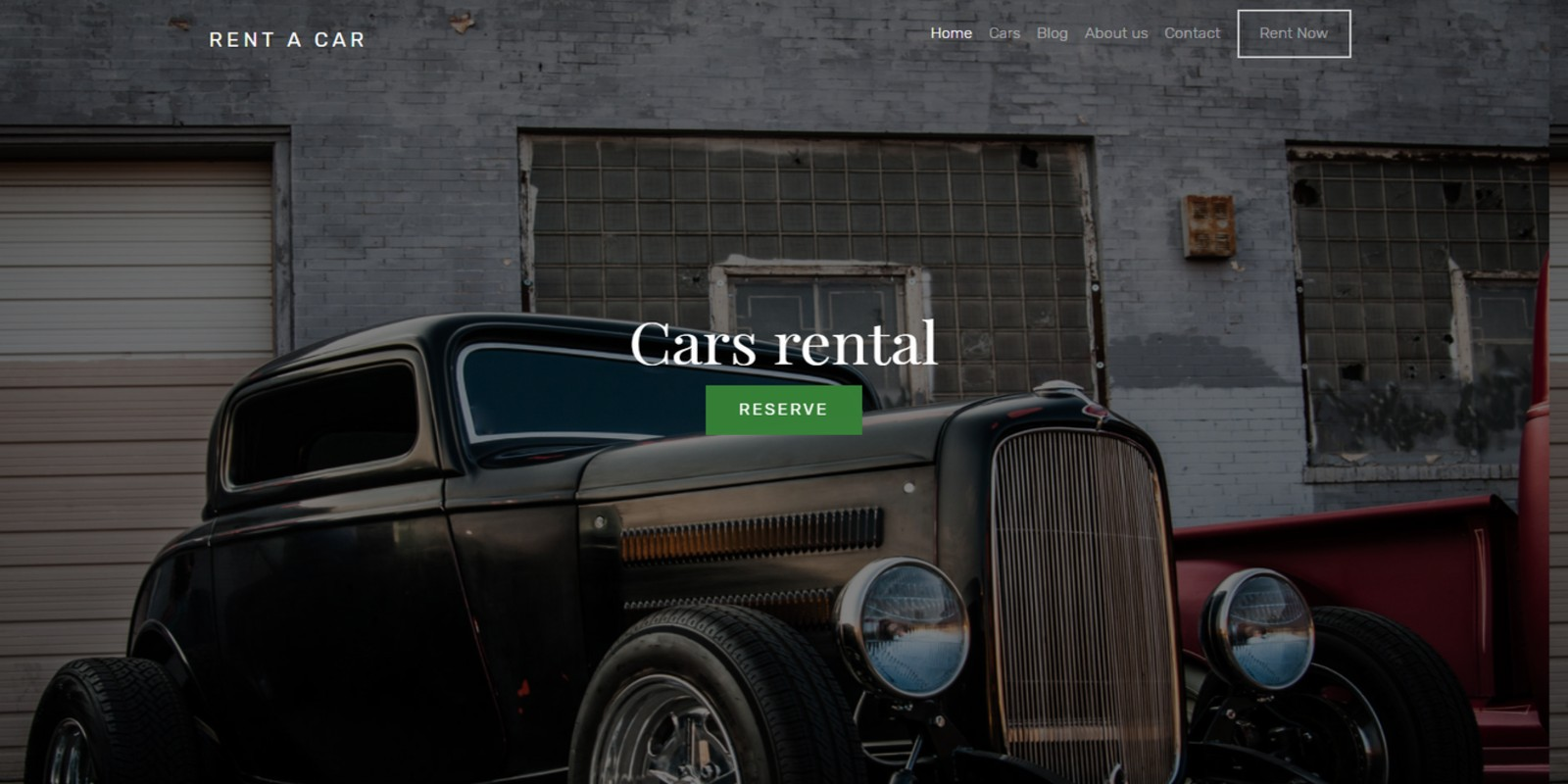 Car Rent HTML Template