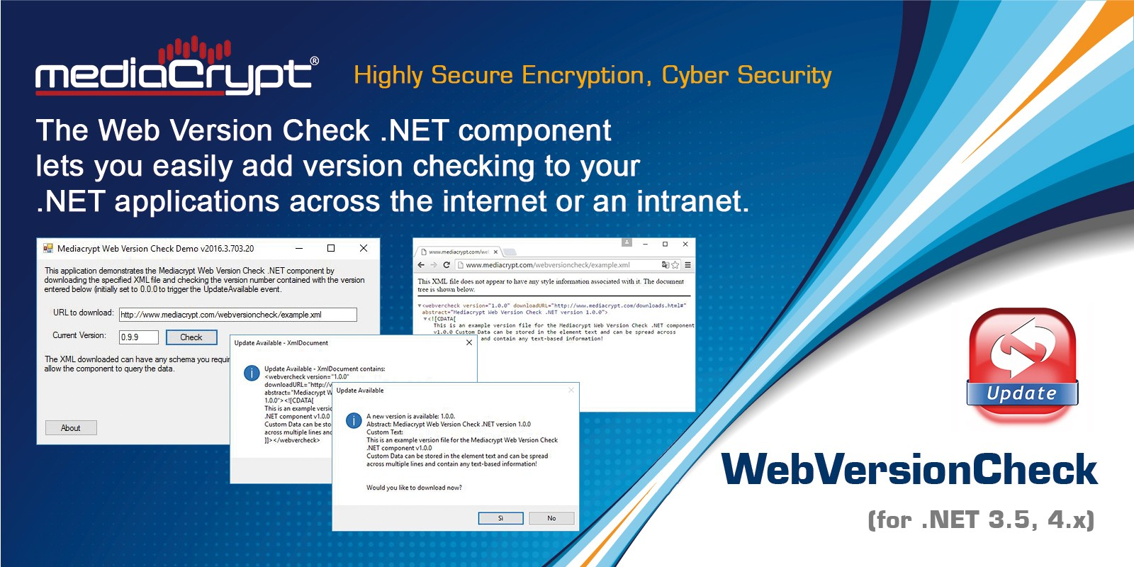 Mediacrypt WebVersionCheck .NET