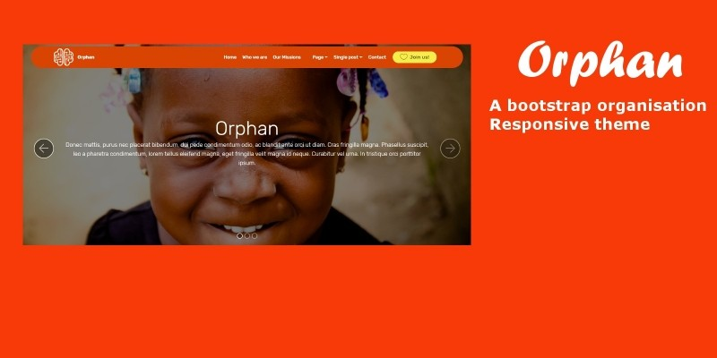 Orphan- Bootstrap Organisation Theme