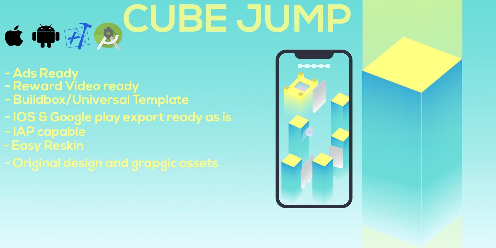 Cube Jump Buildbox Template
