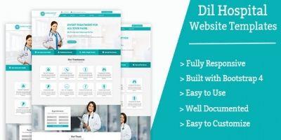 Dil Hospital Website Templates