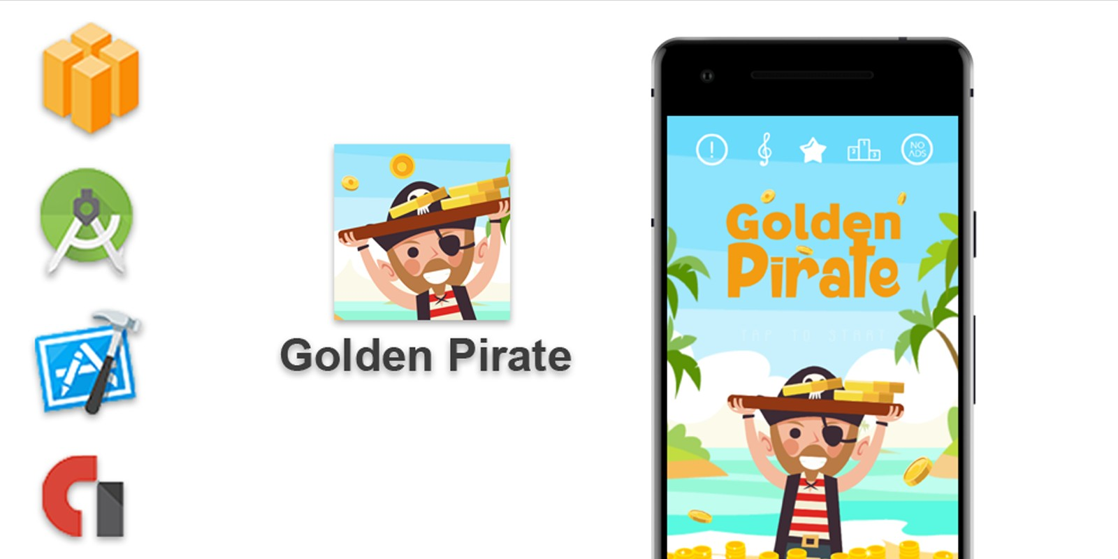 Golden Pirate - Buildbox Game