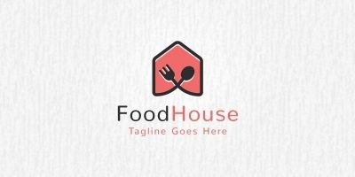 Food House Logo Template