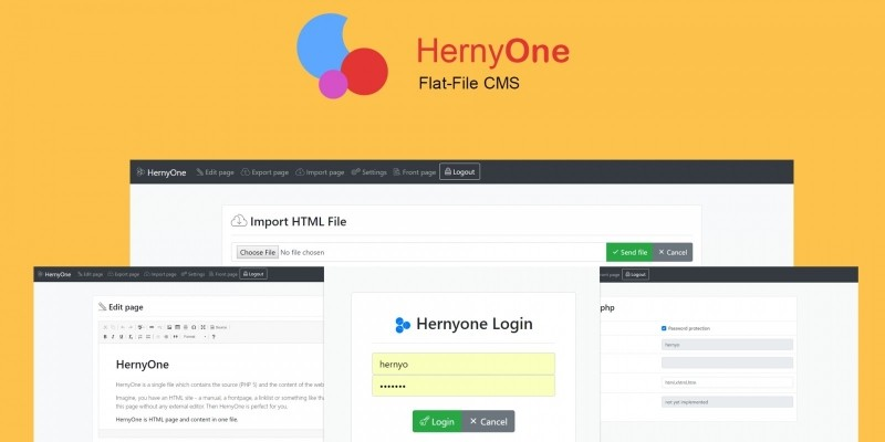 Hernyo One - Flat-file CMS PHP