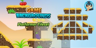 Plat former Tile sets Game BG 03