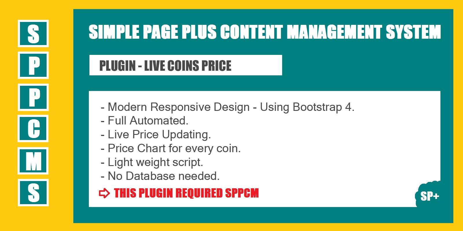 Live Coins Price Market Cap - SPPCMS Plugin