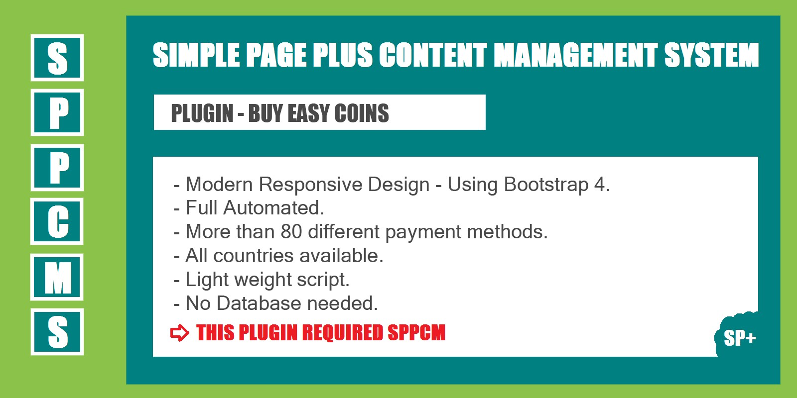 Buy Easy Coins - SPPCMS Plugin