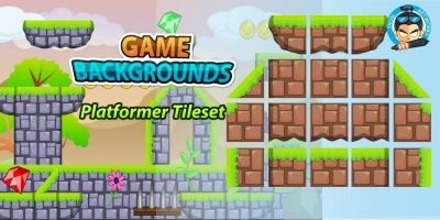 Plat Former Tile Set Game BG 11