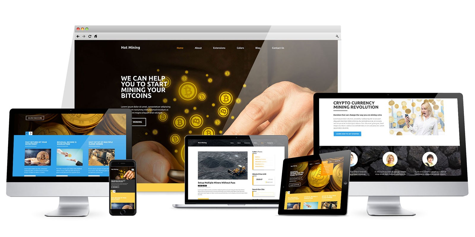 Hot Mining - Joomla Template