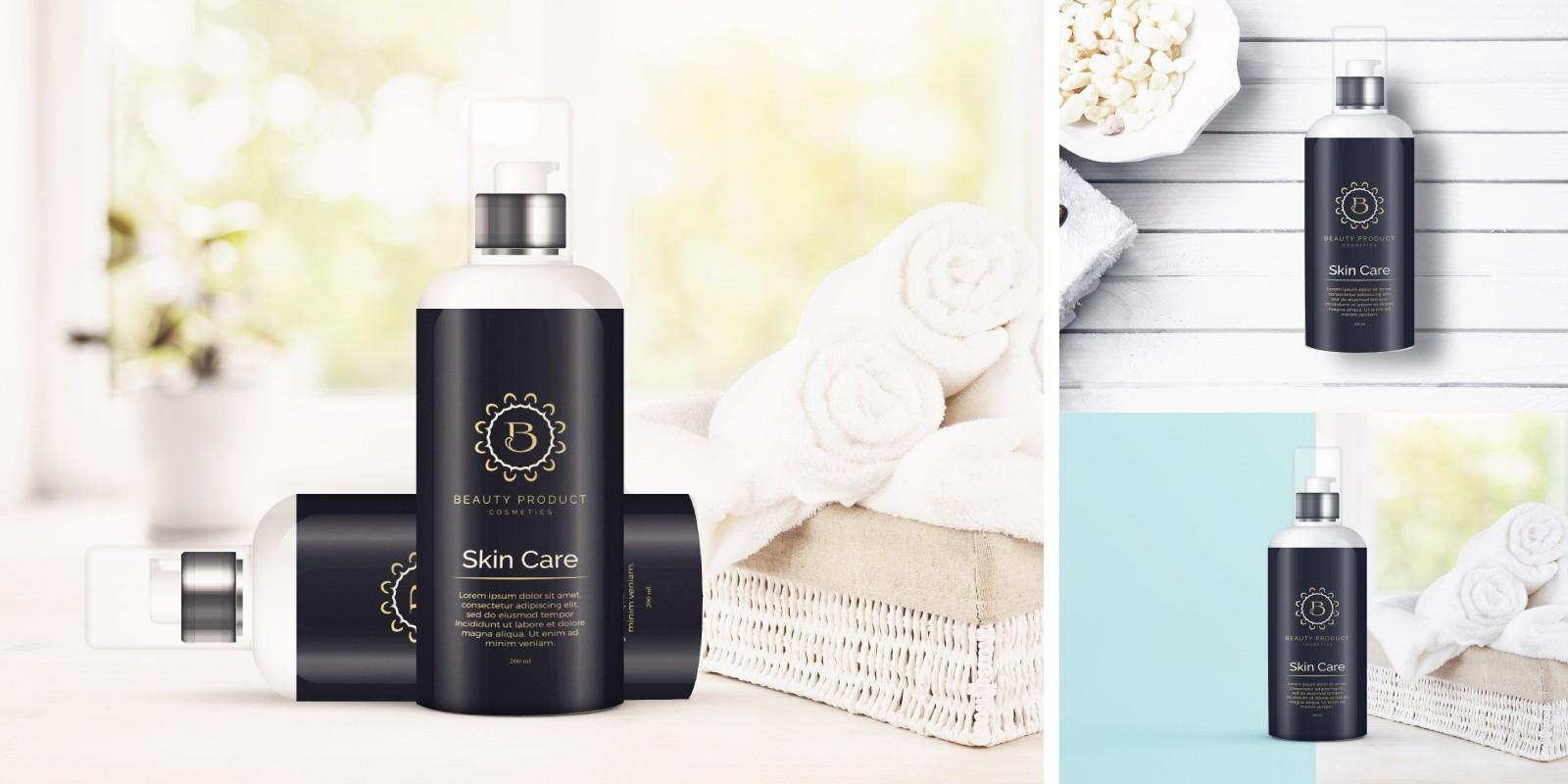 Cosmetics Bottle Design Mock-Ups