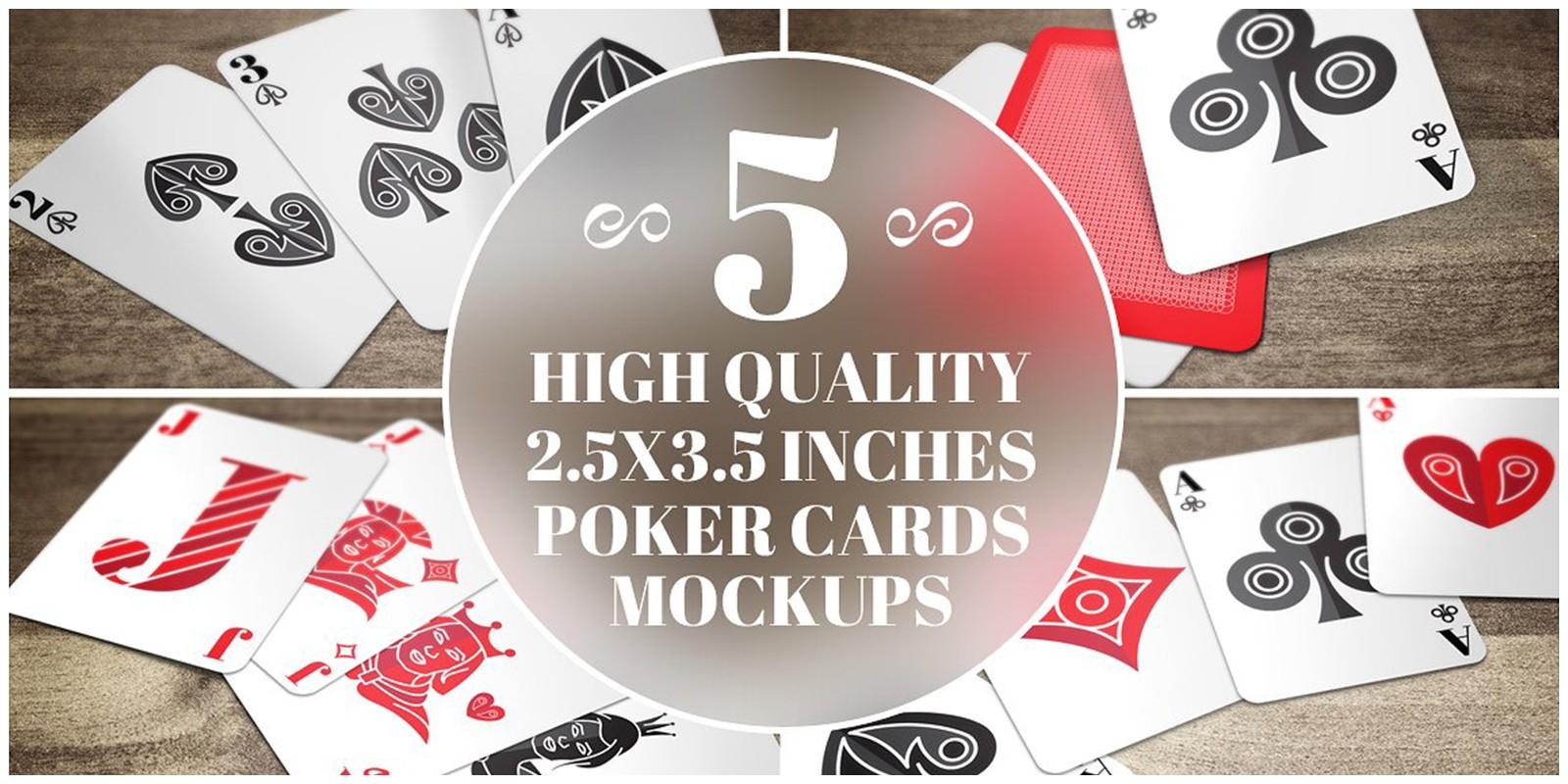 5 Poker Card Mockups