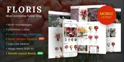 Floris - WooCommerce Flower Shop WordPress Theme