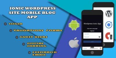 Ionic WordPress Site Mobile App