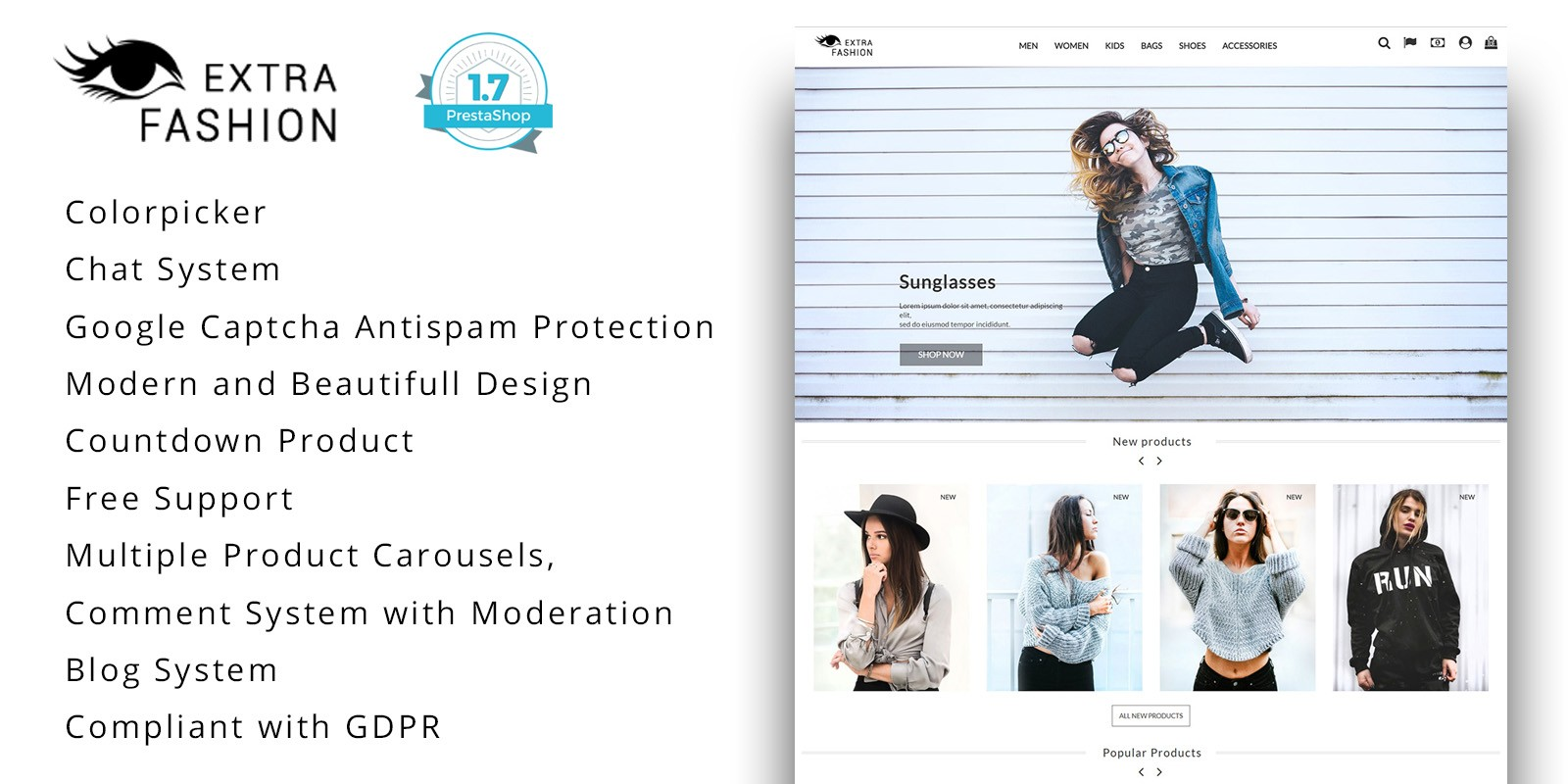 Extra Fashion - PrestaShop Theme