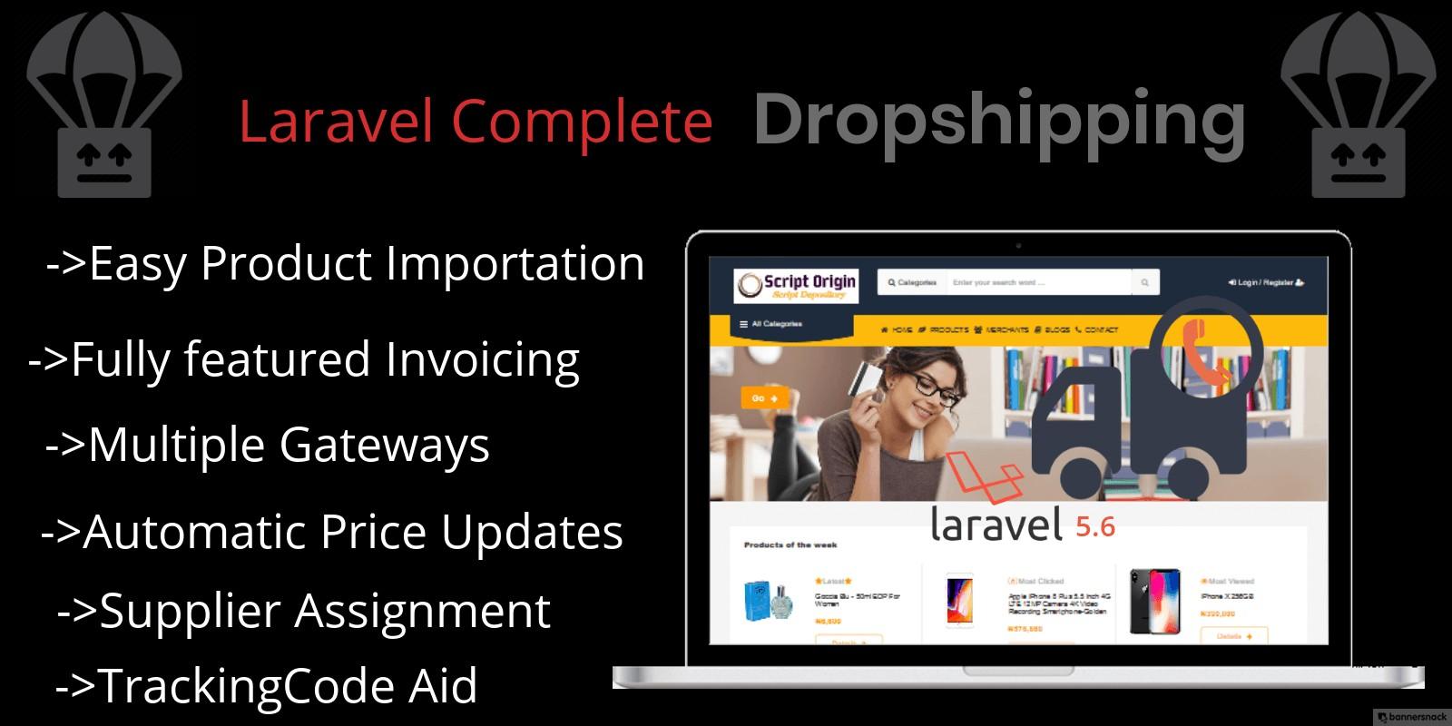Laravel Complete Drop-Shipping Script