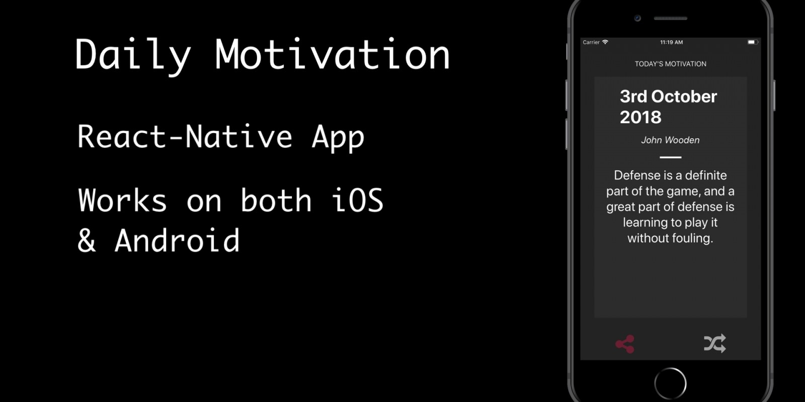 Daily Motivation - React Native App Template