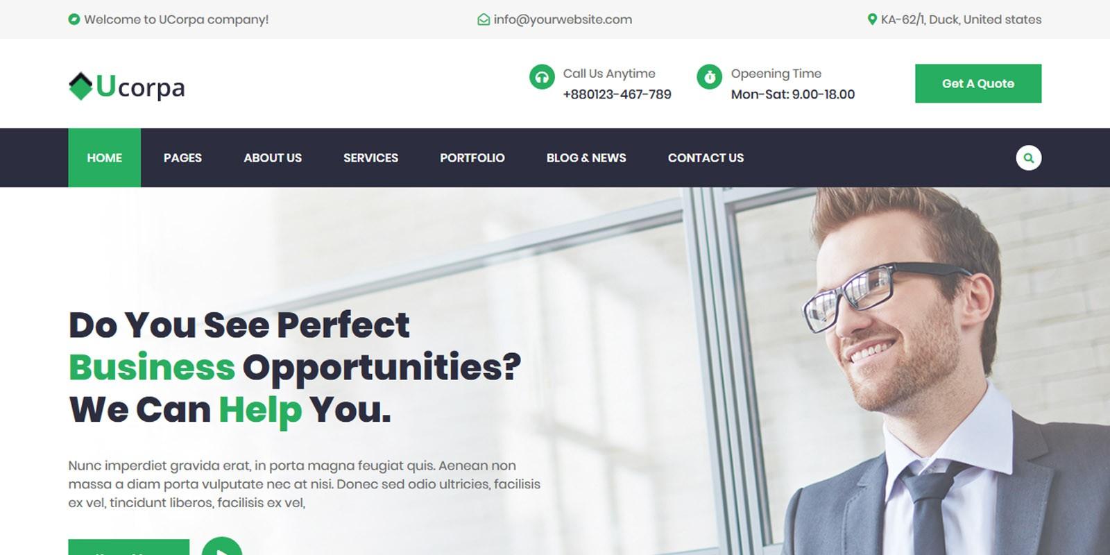 Ucorpa - Multipurpose Corporate HTML5 Template