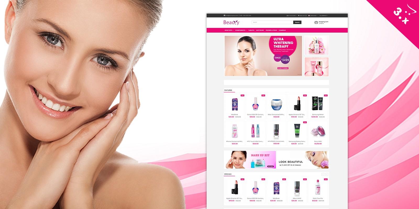 Beauty OpenCart Website Theme