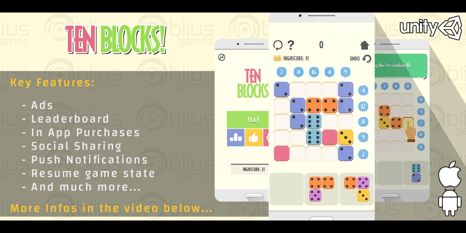 Ten Blocks - Unity Game Template