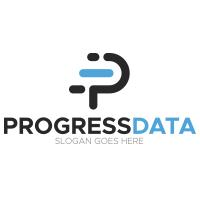 Letter P - Progress Data Logo