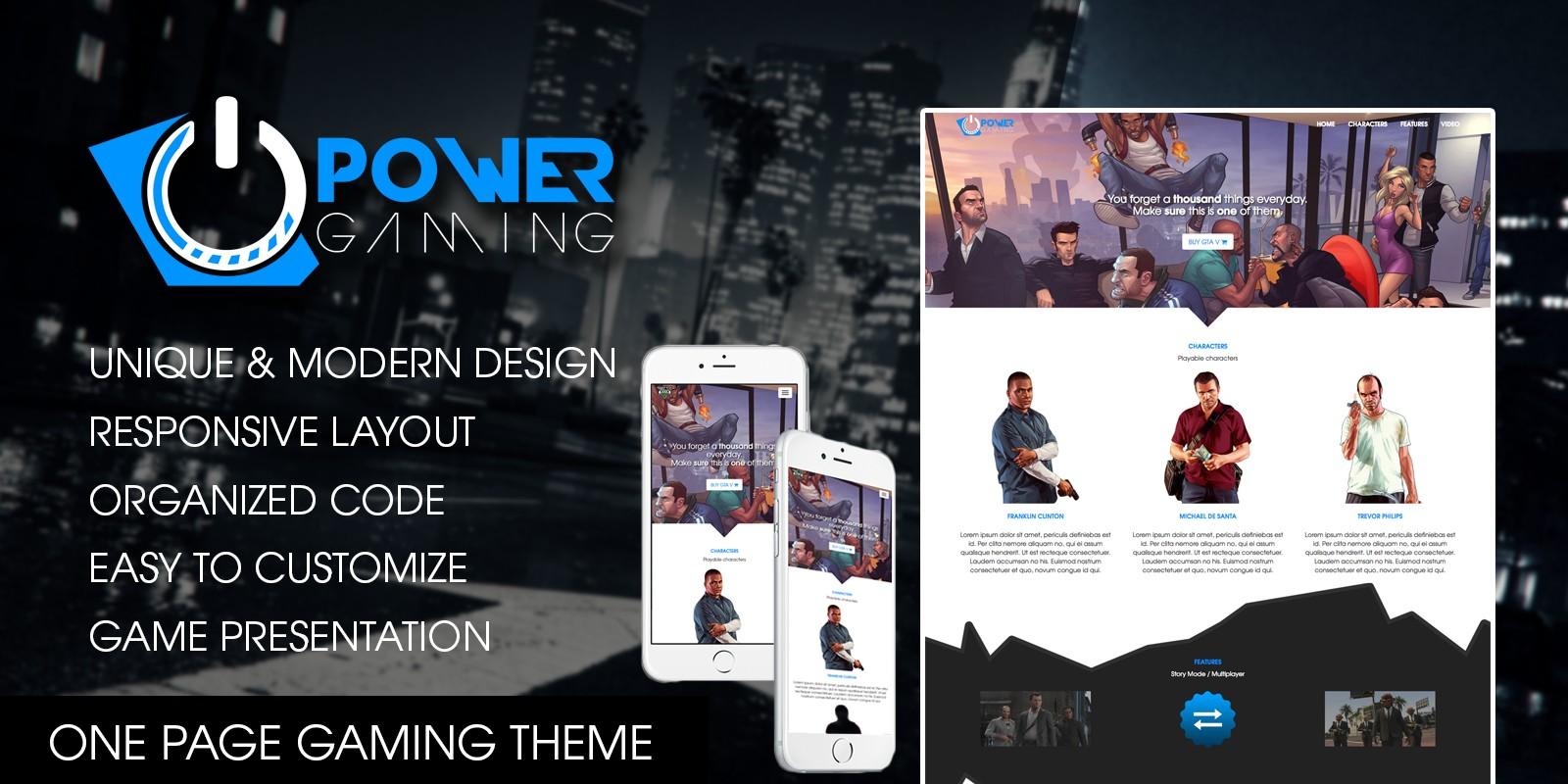 PowerGaming - Gaming HTML Template