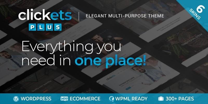 Clickets Plus - Multipurpose WordPress Theme