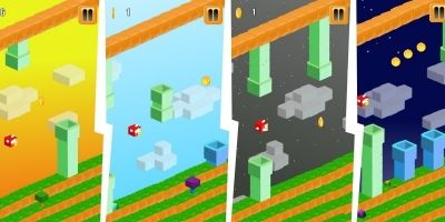 3D Flappy Egde Bird - Buildbox Template