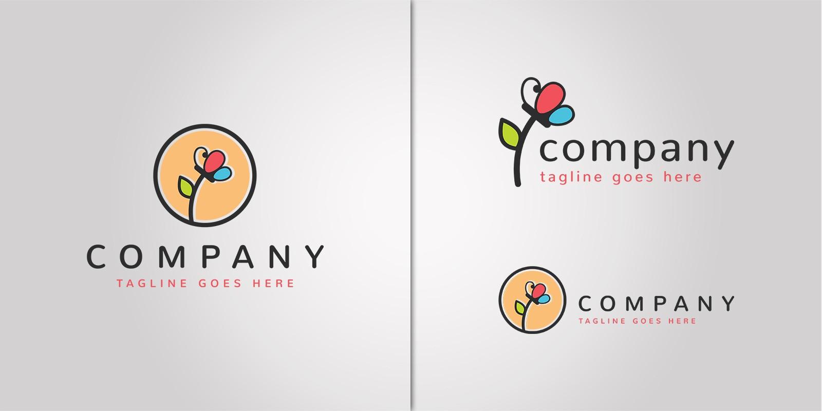 Flower Butterfly Logo