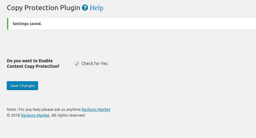 Content Copy Disable WordPress Plugin