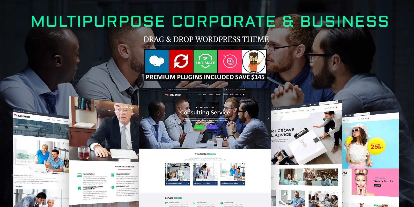 Equanto - Multipurpose WordPress Theme