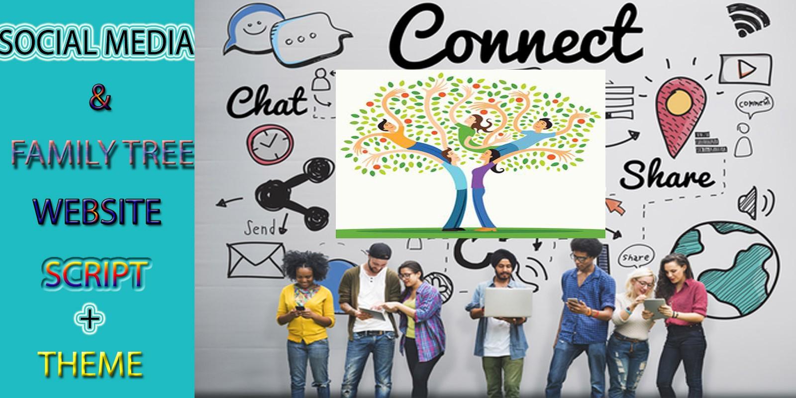 Social Media Family Tree Script